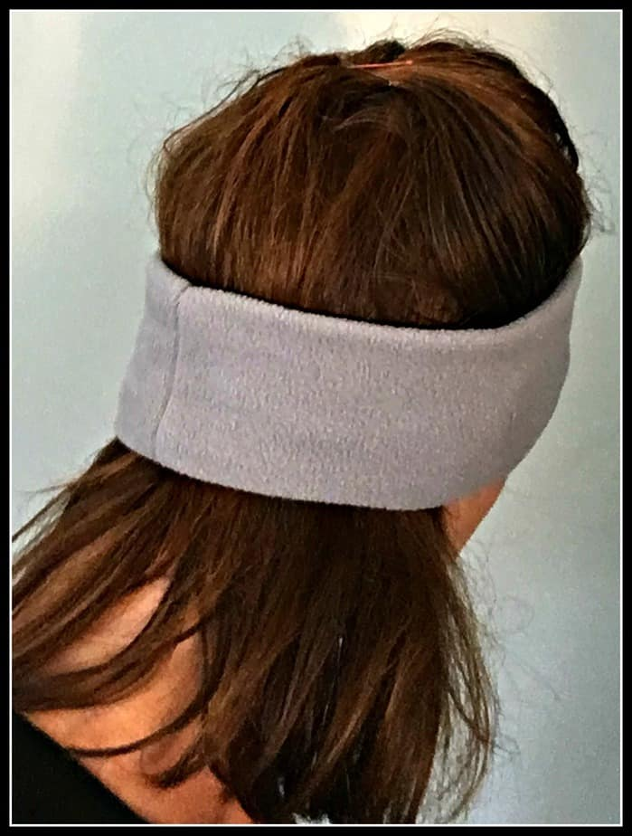 Cozyphones headband headphones model showing lie flat design