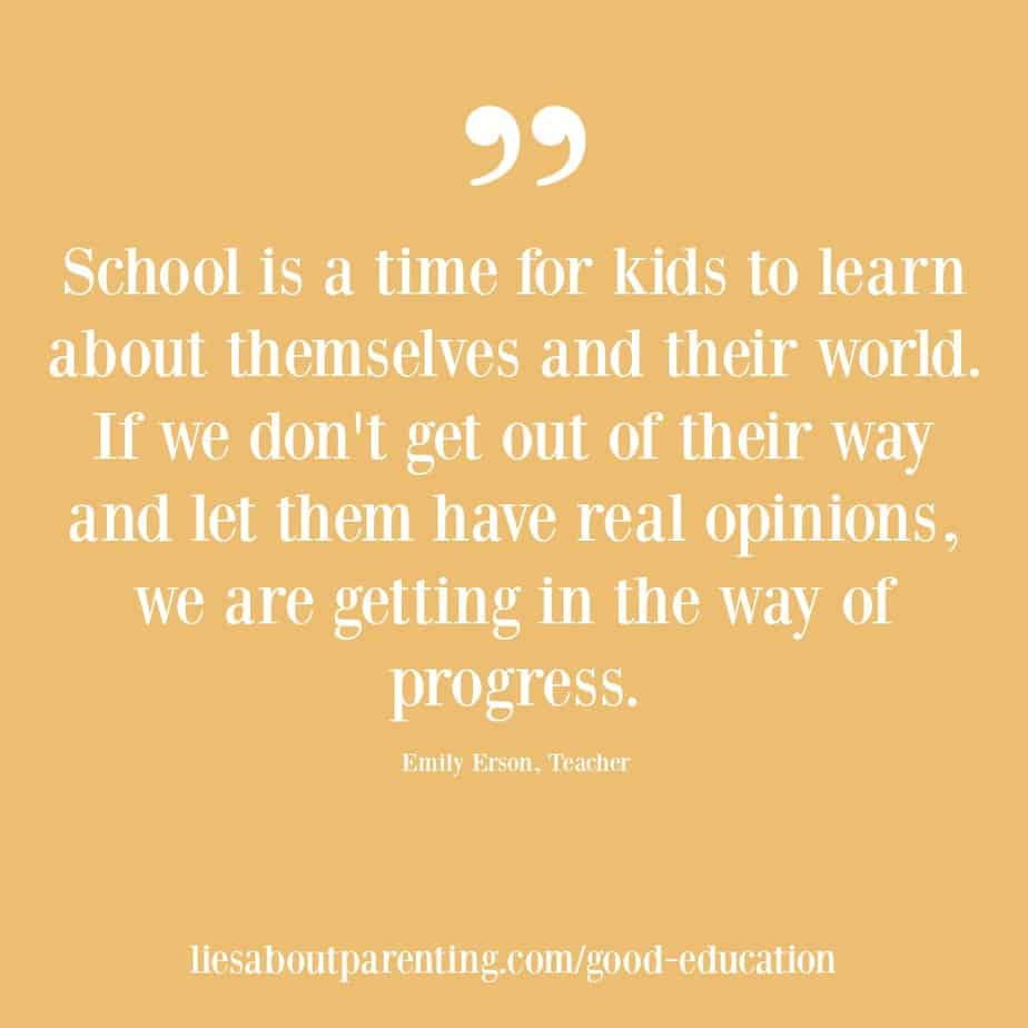 kids education is progress