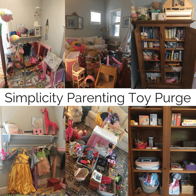 Simplicity Parenting Toy List and Purge