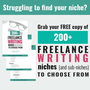 freelance writing training and niches
